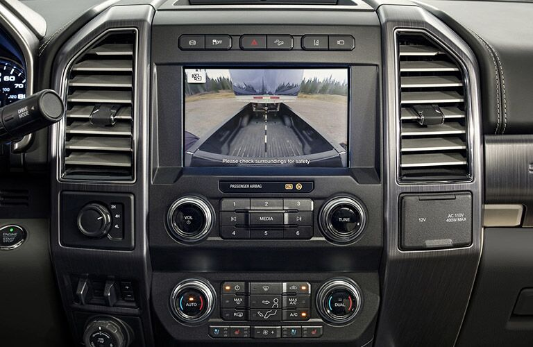 backup camera in a 2021 Ford F-250