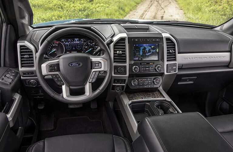 front interior of a 2021 Ford F-250