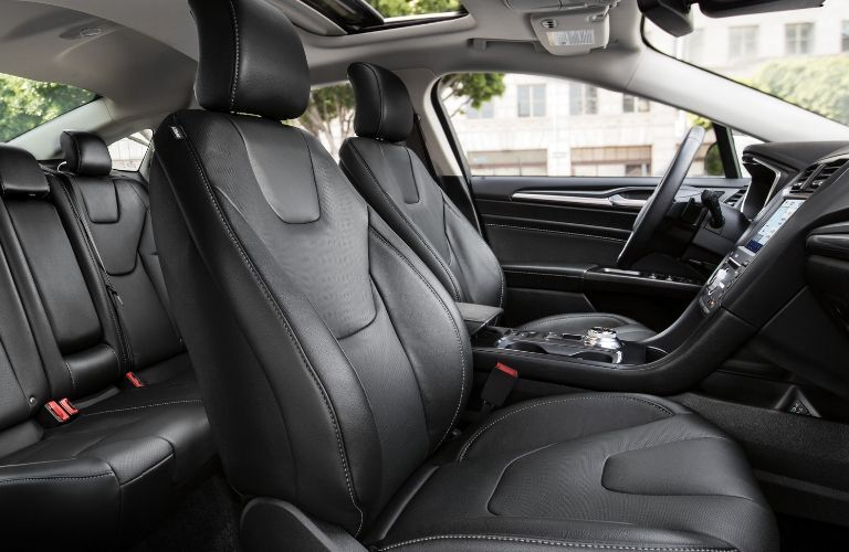 front passenger space in a 2021 Ford Fusion