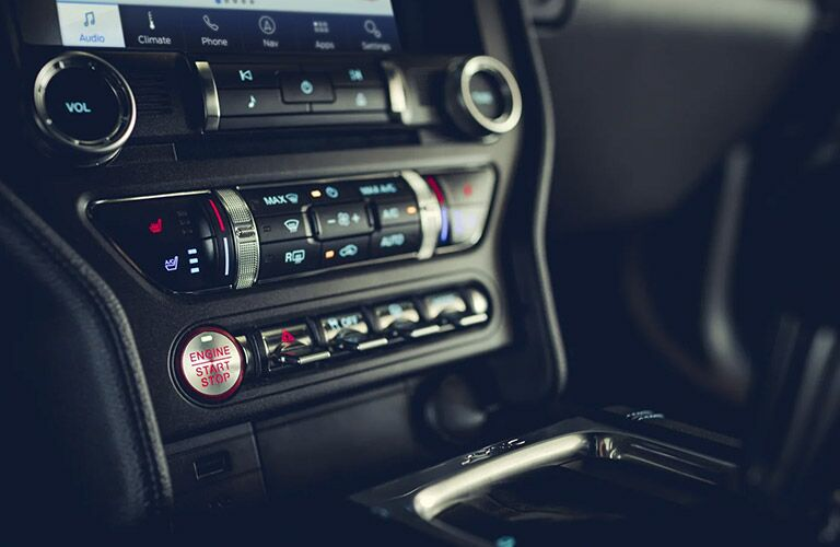 2021 Ford Mustang console view