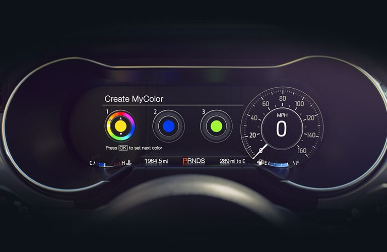 driver display in a 2021 Ford Mustang