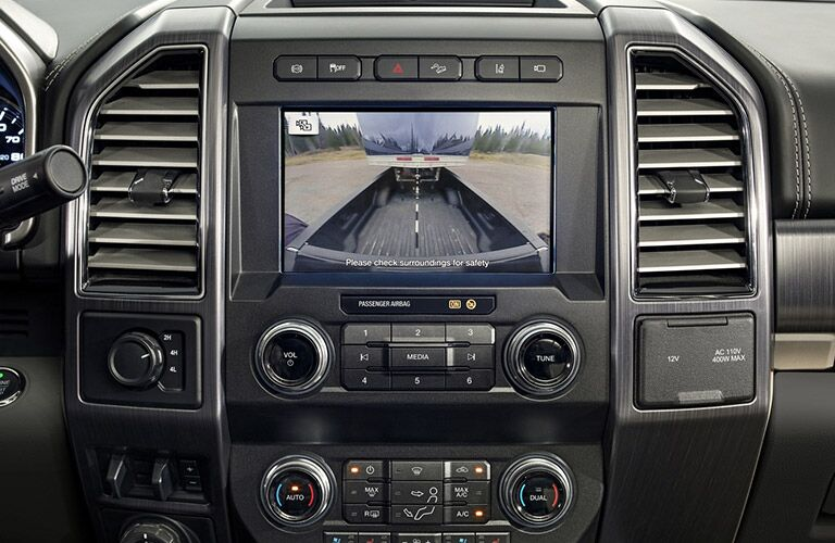 backup camera in a 2021 Ford F-350