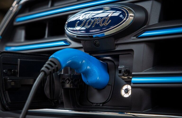 front charging port of a 2022 Ford E-Transit