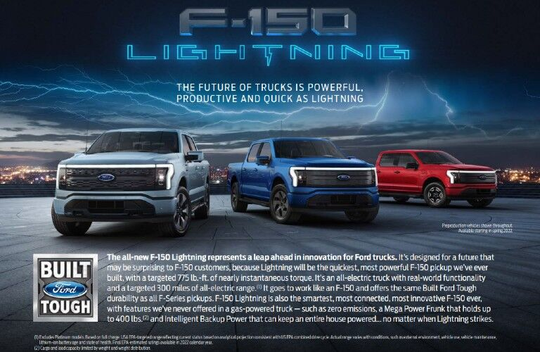 2022 Ford F-150 Lightning Hero Card