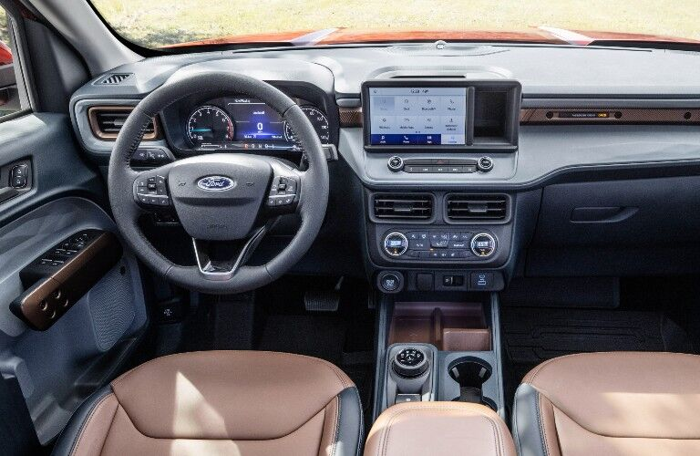 front interior of a 2022 Ford Maverick