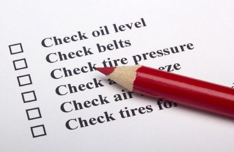 automotive service check list