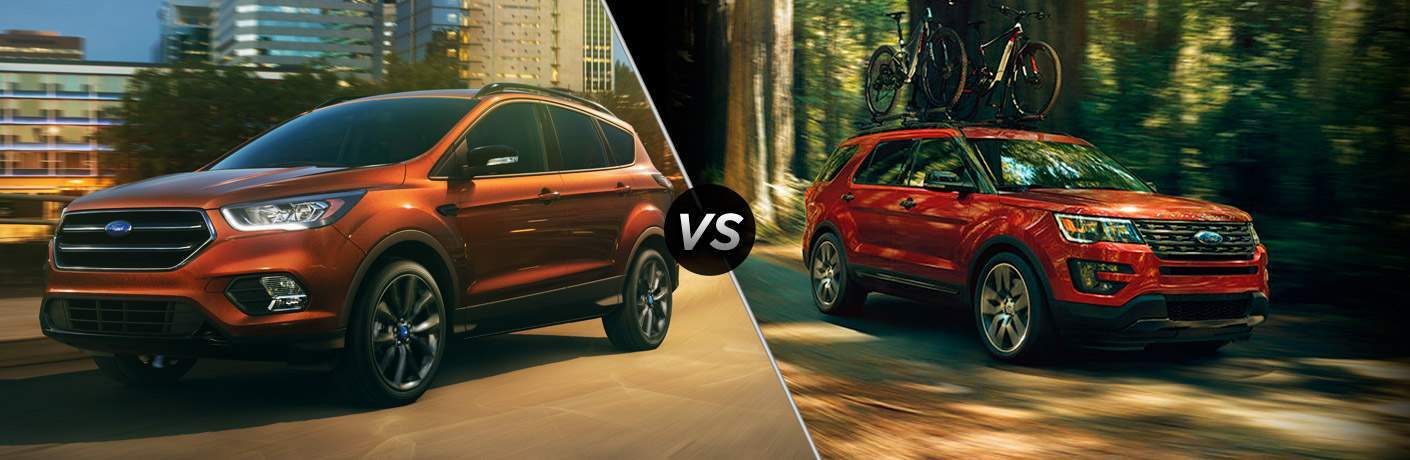 2017 Ford Escape vs 2017 Ford Explorer