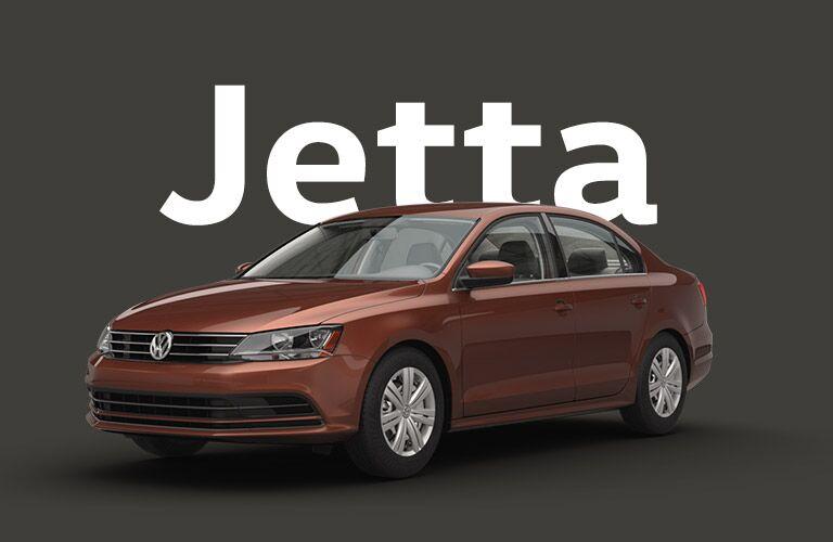 VW Jetta over dark gray background