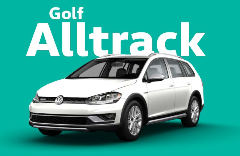 Golf Alltrack over seafoam green background