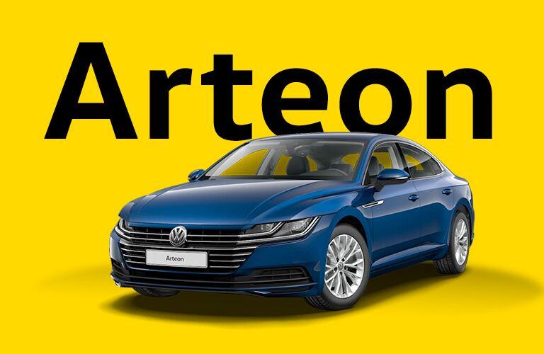 Volkswagen Arteon over yellow background