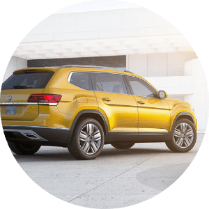 2018 Volkswagen Atlas yellow side