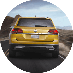 2018 Volkswagen Atlas yellow back