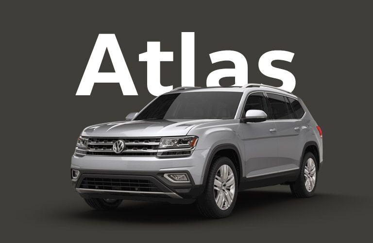 Volkswagen Atlas over gray background