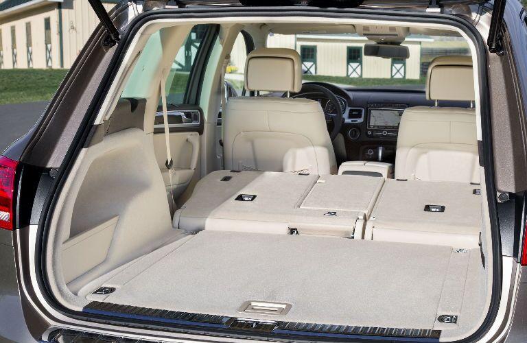 Rear Seats Folded on VW Touareg