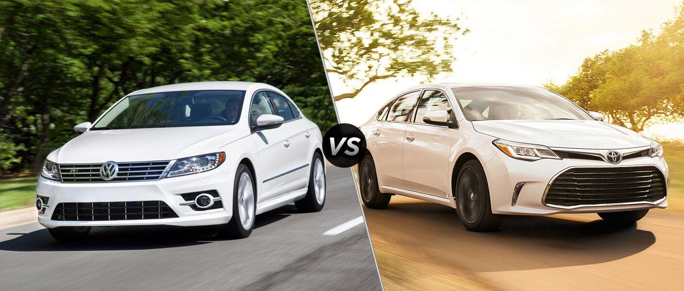 2016 Volkswagen CC vs 2016 Toyota Avalon