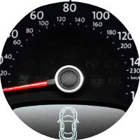 2017 Volkswagen Beetle speedometer