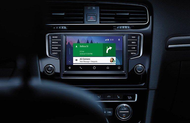 2017 Volkswagen Golf R First Row Touchscreen Measurements