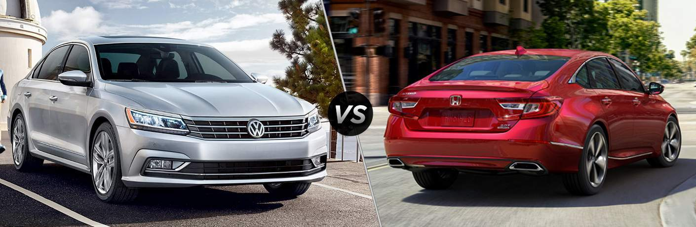 silver 2018 VW Passat vs red 2018 Honda Accord