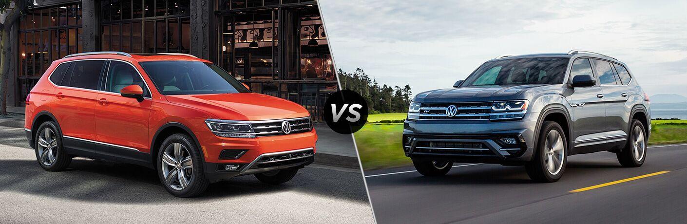 2019 Volkswagen Tiguan vs 2019 Volkswagen Atlas