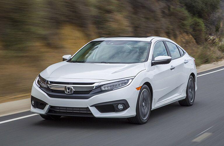 2017 Honda Civic vs 2017 Ford Focus White Exterior