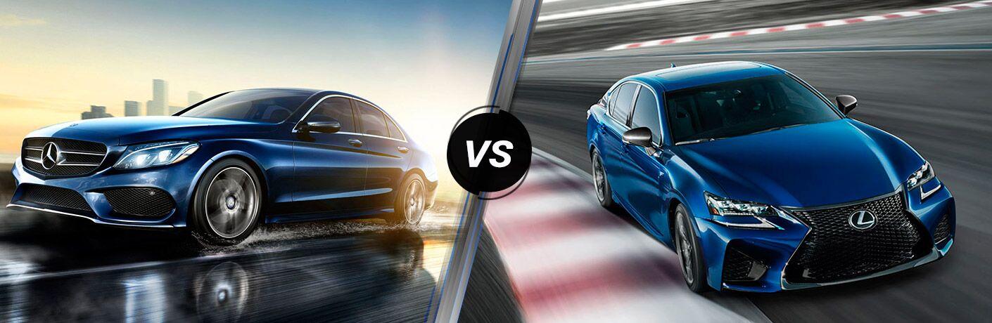 2016 mercedes amg c63 vs 2016 lexus gs f for Mercedes benz gs
