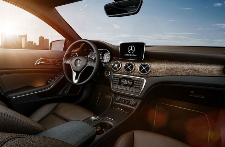 2017 Mercedes-Benz GLA Brown Leather Upholstery