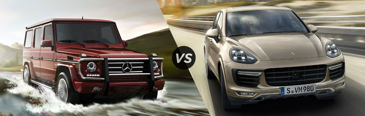 2017 mercedes benz g class vs porsche cayenne. Black Bedroom Furniture Sets. Home Design Ideas
