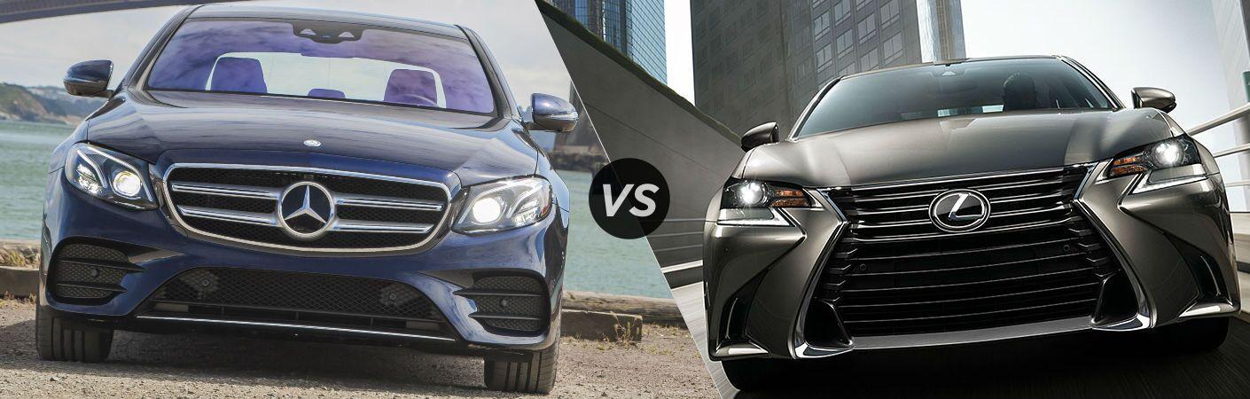 2017 mercedes benz e class vs lexus gs for Mercedes benz c class vs e class