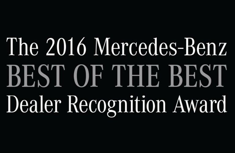 2016 Mercedes-Benz best of the Best Dealer Recognition Award