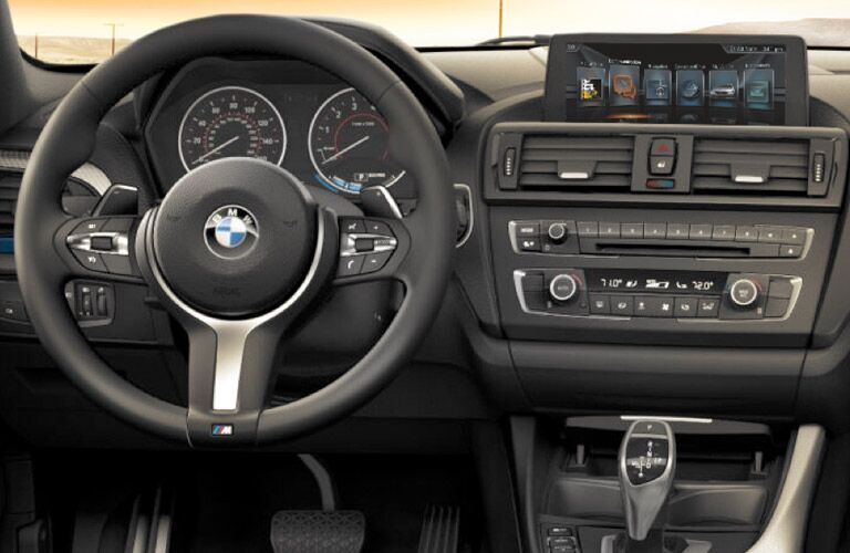 2017 BMW 2 Series Steering Wheel, Center Console and Touchscreen Display