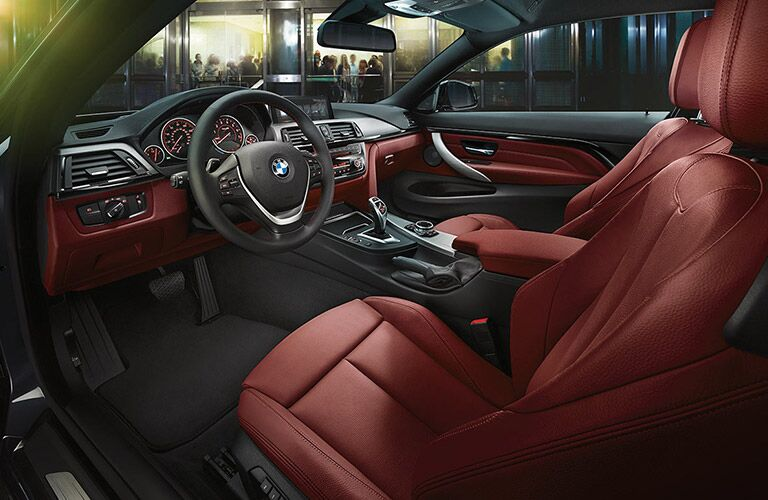2017 BMW 4 Series Steering Wheel, Dashboard and Touchscreen with Red Interior