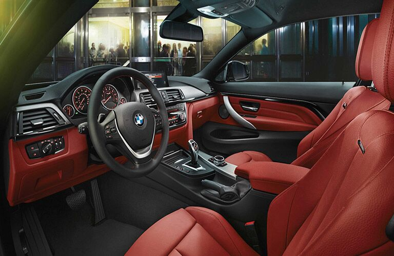 2017 BMW M4 Steering Wheel, Dashboard and Touchscreen with Red Interior