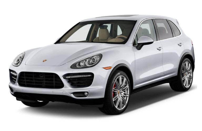 Used Porsche Cayenne white front