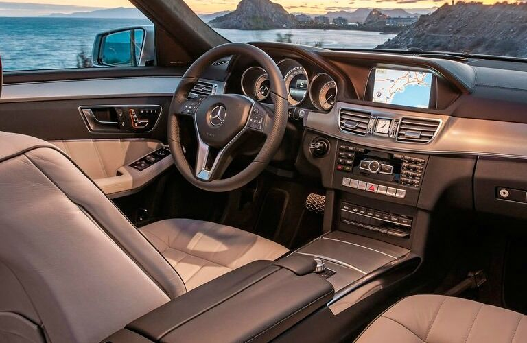 The inside of the E-Class can give you an idea of what to expect from a used Mercedes-Benz near Dallas TX.