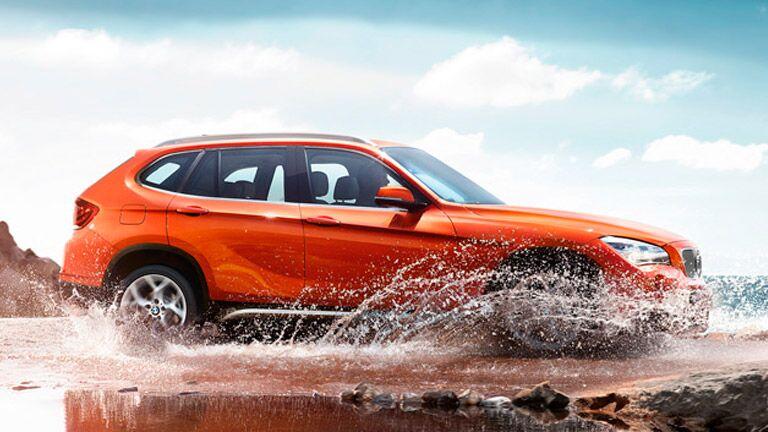 Used BMW X1 2015 model orange exterior