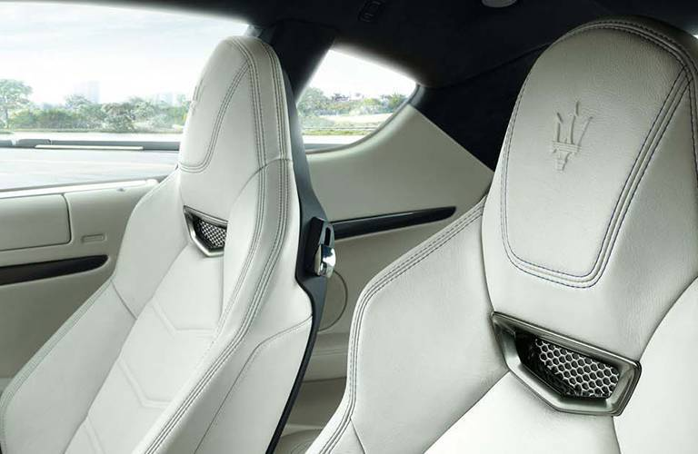 Interior of a Maserati model