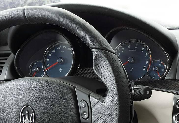 Dashboard of Maserati model