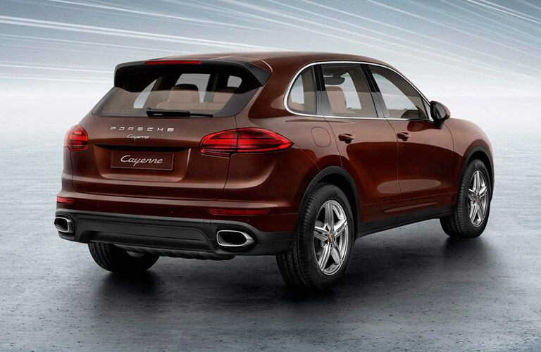 Used Porsche Cayenne rear view