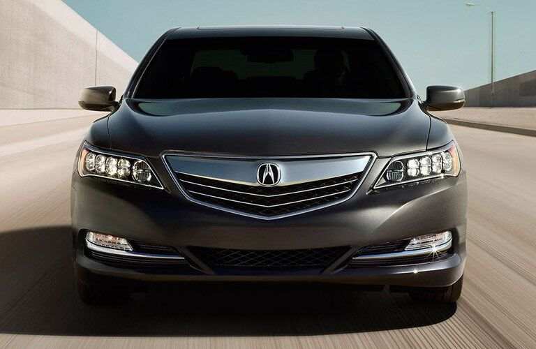 Front grille of Acura model