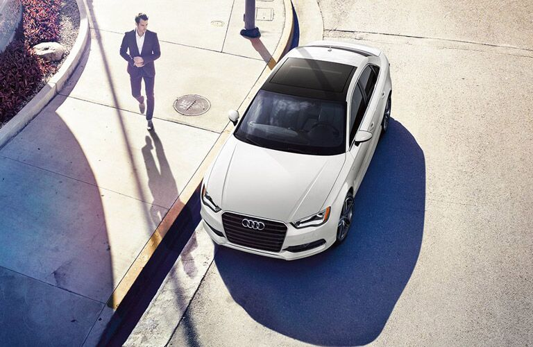 Audi A3 exterior white color