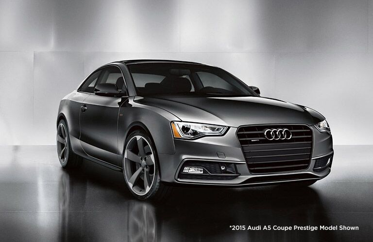 Gray 2015 Audi A5 Front Exterior on Gray Background
