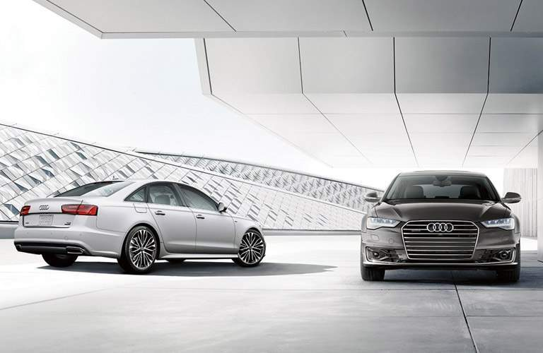 2017 Audi A6 models next to each other