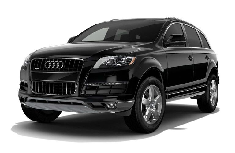 Black 2016 Audi Q7 Front Exterior on a White Background