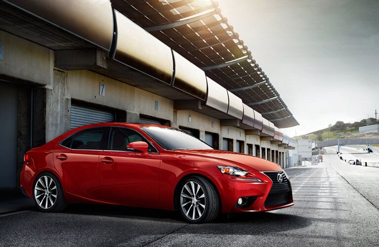 Lexus IS red exterior
