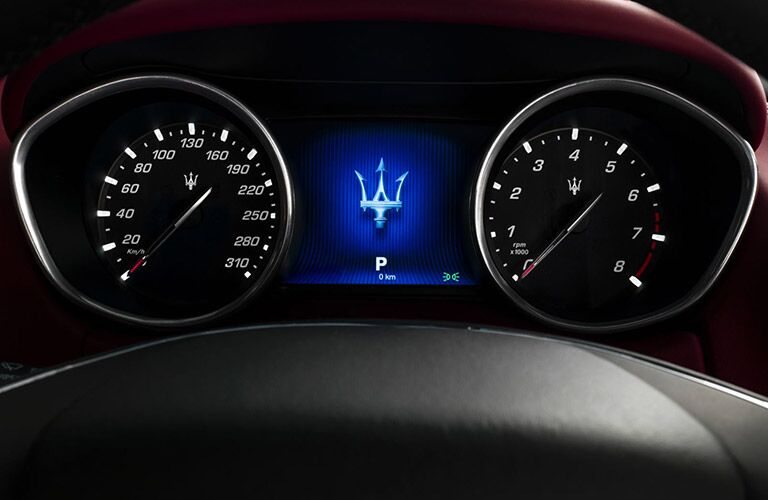 Maserati Ghibli dashboard and speedometer