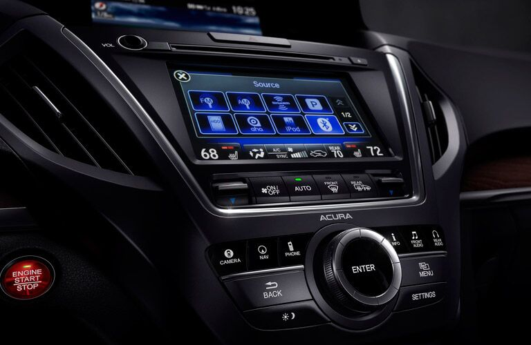 Acura MDX entertainment console