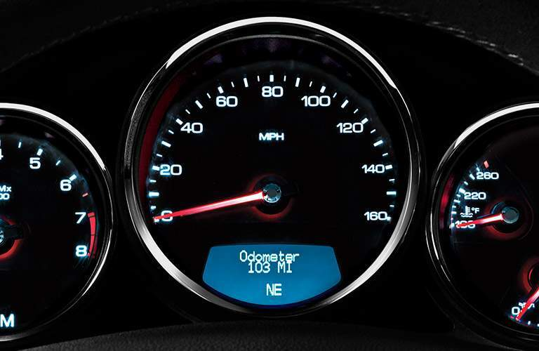 2017 Cadillac CTS speedometer