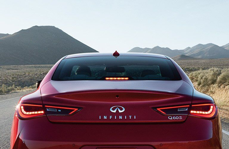 Used INFINITI Q60 rear view