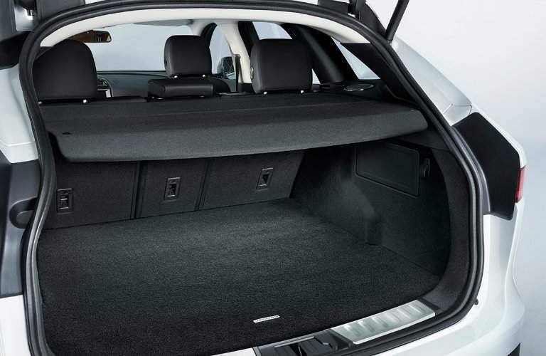 Trunk area of the 2017 Jaguar F-PACE