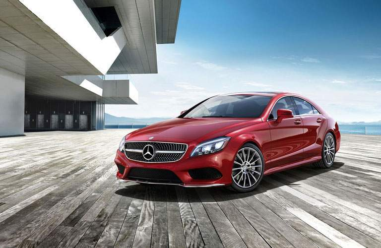 2017 Mercedes-Benz CLA in red